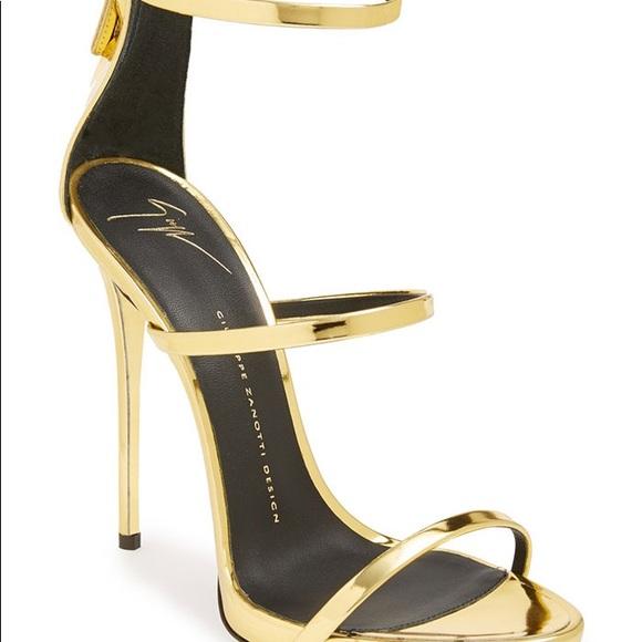 Giuseppe Zanotti Harmony Gold Heels
